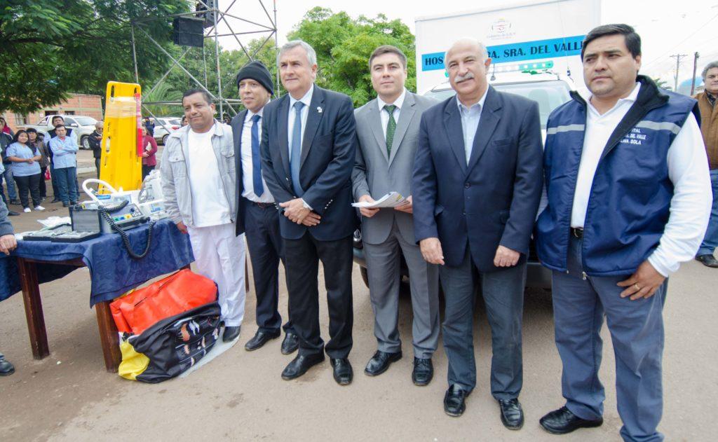 Gerardo Morales acompaño al pueblo de Palma Sola en las fiestas patronales y se entrego una Ambulancia al Hospital local